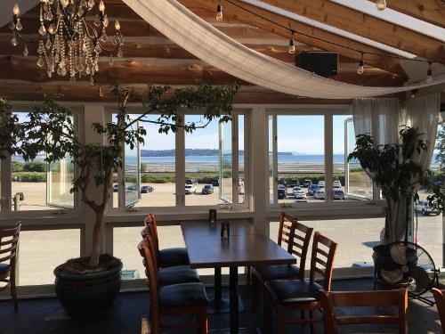 Open window dining area