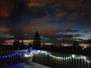 horizons burnaby mountain night lights