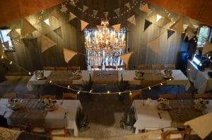Abbotsford barn wedding reception area